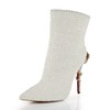 Women's Pumps/Heels Booties/Ankle Boots Zipper Cone Heel Average Casual