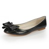Average Loafers Low Heel Genuine Leather Girls' Loafers Bowknot