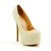 Rubber Pumps/Heels Average Stiletto Heel Imitation Pearl Dress Women's