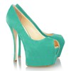 Women's Pumps/Heels Wedding Average Peep Toe Flock Stiletto Heel
