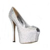 Peep Toe Pumps/Heels Average Stiletto Heel Silk Like Satin Rhinestone Girls'