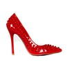 Girls' Wedding Shoes Patent Leather Average Pumps/Heels Cone Heel Rivet