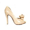 Bowknot Wedding Shoes Patent Leather Sandals Average Wedding Stiletto Heel