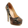Open Toe Pumps/Heels Women's Average Leopard Print Wedding Genuine Leather