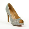 Average Pumps/Heels Girls' Wedding Peep Toe Cone Heel Sheepskin