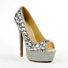 Patent Leather Pumps/Heels Rhinestone Dress Women's Average Cone Heel