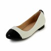 Women's Loafers Round Toe Outdoor Patent Leather Beading Low Heel
