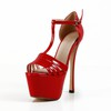 Medium Wedding Shoes Stiletto Heel Buckle Dress Women's Sandals