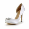 Satin Wedding Shoes Pumps/Heels Stiletto Heel Party & Evening Girls' Rhinestone
