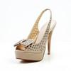 Stiletto Heel Pumps/Heels Open Toe Sheepskin Party & Evening Bowknot Women's