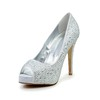 Graduation Wedding Shoes Abnormal/Fantasy Heels Average Rhinestone Round Toe Flock
