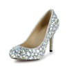 Abnormal/Fantasy Heels Wedding Shoes Pointed Toe Patent Leather Rhinestone Women's Office & Career