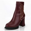 Pumps/Heels Wedding Shoes Booties/Ankle Boots Women's Graduation Zipper Cow Leather