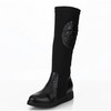 Flat Heel Wedding Shoes Closed Toe Average Women's Honeymoon Mid-Calf Boots