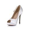 Silk Like Satin Pumps/Heels Buckle Stiletto Heel Sandals Girls' Average