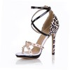 Girls' Sandals PU Stiletto Heel Split Joint Party & Evening Sandals