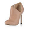 Round Toe Wedding Shoes Average Stiletto Heel PU Booties/Ankle Boots Zipper