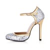 Sequined Cloth/Sparkling Glitter Wedding Shoes Wedding Sparkling Glitter Women's Cone Heel Sandals