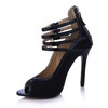 Open Toe Sandals Dress Average Buckle Opalescent Lacquers Stiletto Heel