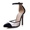 Split Joint Sandals Pointed Toe Stiletto Heel Plastics Women's Narrow