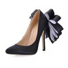 Narrow Wedding Shoes Stiletto Heel Party & Evening Girls' Bowknot Silk Like Satin