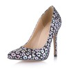 PU Pumps/Heels Narrow Closed Toe Wedding Stiletto Heel Girls'