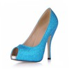 Sequined Cloth/Sparkling Glitter Platforms Stiletto Heel Open Toe Narrow Girls' Office & Career