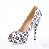 Party & Evening Wedding Shoes Women's Round Toe Narrow Flock Stiletto Heel