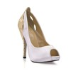 Cloth Platforms Hollow-Out Stiletto Heel Wedding Girls' Round Toe