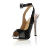 Opalescent Lacquers Platforms Graduation Buckle Stiletto Heel Women's Open Toe