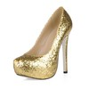 Stiletto Heel Platforms Graduation Women's Wide Sequined Cloth/Sparkling Glitter Round Toe