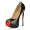 Party & Evening Platforms Wide Stiletto Heel Women's PU Open Toe