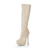 Opalescent Lacquers Platforms Dress Women's Wide Pumps/Heels Mid-Calf Boots