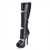 PU Boots Boots Wedding Girls' Stiletto Heel Mid-Calf Boots