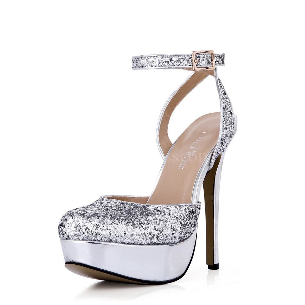 8623648c464 Closed Toe Platforms Stiletto Heel Sparkling Glitter Sequined Cloth Sparkling  Glitter Party   Evening Women s