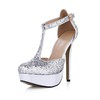 Round Toe Sandals Honeymoon Girls' Buckle Sequined Cloth/Sparkling Glitter Wide