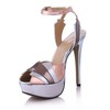 Women's Wedding Shoes Stiletto Heel PU Split Joint Honeymoon Extra Wide