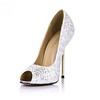 Sparkling Glitter Wedding Shoes Women's Sequined Cloth/Sparkling Glitter Average Graduation Round Toe