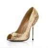 Stiletto Heel Pumps/Heels Average Honeymoon Sequined Cloth/Sparkling Glitter Sparkling Glitter Women's