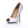Women's Pumps/Heels Stiletto Heel Average PU Peep Toe Office & Career