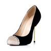 Stretch Velvet Pumps/Heels Party & Evening Average Stiletto Heel Chain Women's