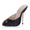 Dress Slippers Sparkling Glitter Pumps/Heels Sequined Cloth/Sparkling Glitter Stiletto Heel Girls'