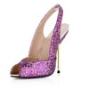 Women's Wedding Shoes Silk Like Satin Outdoor Peep Toe Average Sparkling Glitter