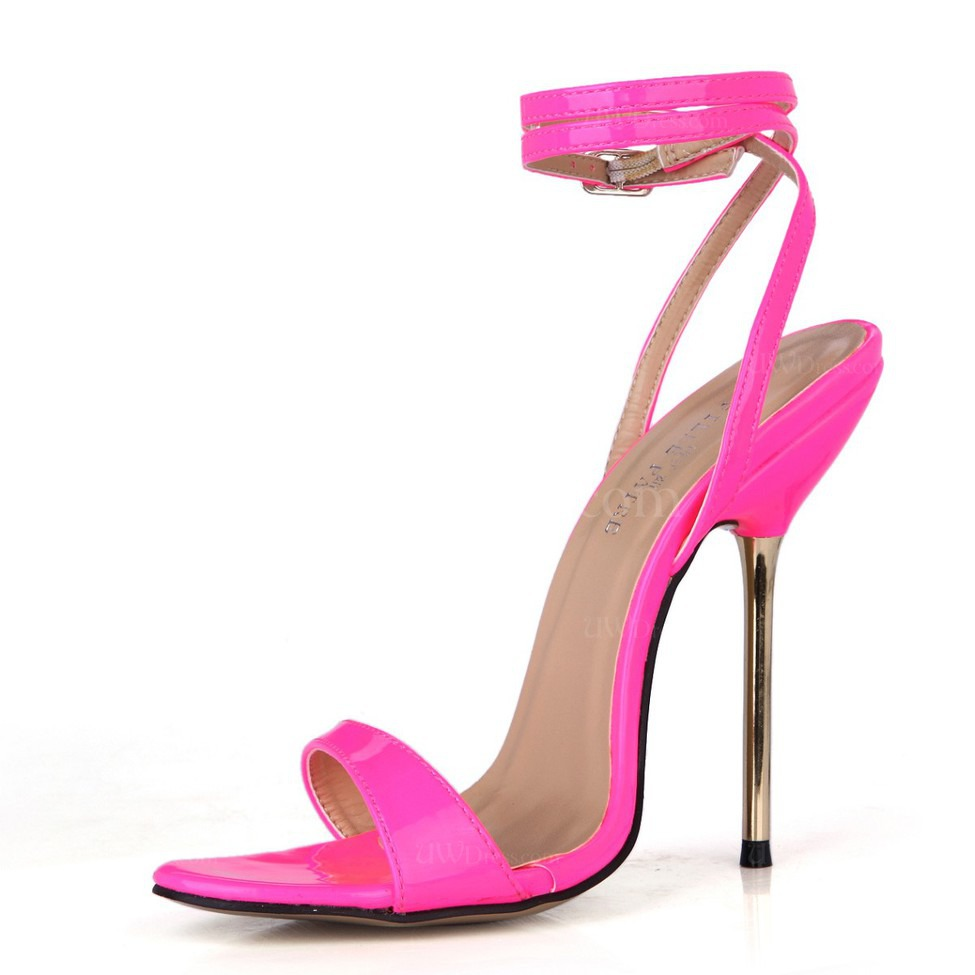 34e971cfd83 Fuschia Girls  Sandals Stiletto Heel Opalescent Lacquers Open Toe Wedding  Average (Style S31326)