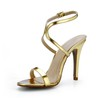 Average Dance Shoes Stiletto Heel PU Buckle Women's Outdoor