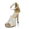 Sequined Cloth/Sparkling Glitter Dance Shoes Round Toe Women's Split Joint Office & Career Average