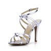 Average Wedding Shoes Girls' Stiletto Heel Braided Strap PU Sandals
