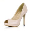 Open Toe Wedding Shoes Stiletto Heel Outdoor Average Girls' Opalescent Lacquers