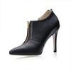 Stiletto Heel Wedding Shoes PU Zipper Pumps/Heels Narrow Girls'