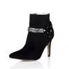 Zipper Wedding Shoes Wedding Women's Average Stretch Velvet Pointed Toe